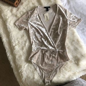 NWT VELVET BODY SUIT